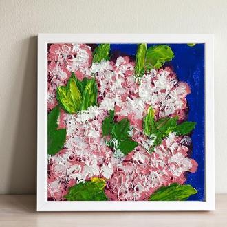 Сирень (картина масло/оргалит) 15х15 см