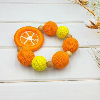 Вязаный грызунок апельсин (лимон)