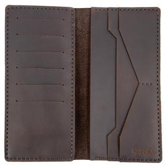 Высокое портмоне из винтажной кожи