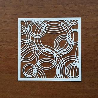 картонная вырубка рамка с кругами, декор для скрапбукинга