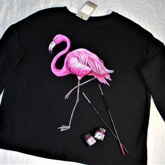 """Свитшот  """"Розовий фламинго"""""""