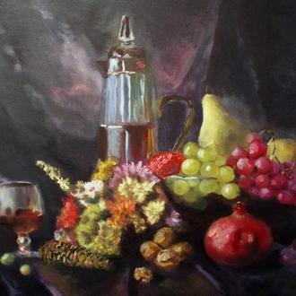 Картина маслом натюрморт фрукты