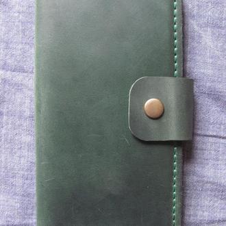 стильний гаманець з вінтажної шкіри crazy horse зелений