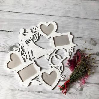 """Рамка из дерева """" Свадебные фото""""( 1 )"""