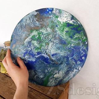 """Абстрактная живопись """"Земля"""" - Настенный декор"""