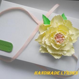 """Украшение """"Лимонный цветок"""""""