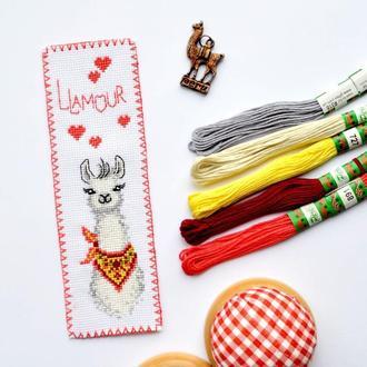 """Набір для вишивки закладки """"Llamour"""" Код Товара: KSK2-49"""