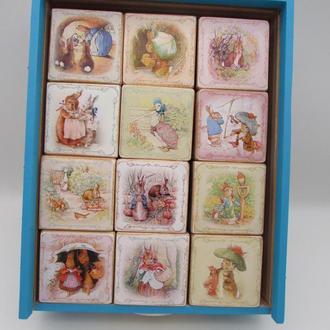 Большой набор кубиков с картинками к сказкам Беатрикс Поттер