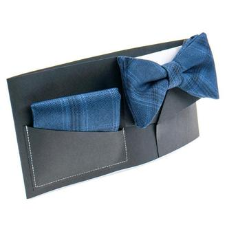 Набор: галстук-бабочка+нагрудный платок+подарочная упаковка