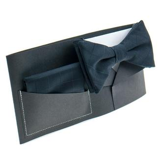 Набор: бабочка+нагрудный платок+подарочная упаковка