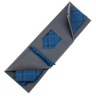 Набор: галстук классический + нагрудный платок + подарочная упаковка