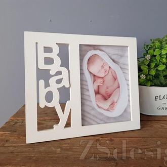 """Рамка для фото новорожденного - Фоторамка """"Baby"""""""