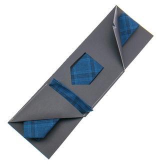 Набор: галстук узкий + нагрудный платок + подарочная упаковка