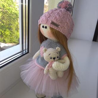 Вязаная кукла, тильда.