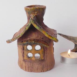 Керамический домик Аромалампа Дом