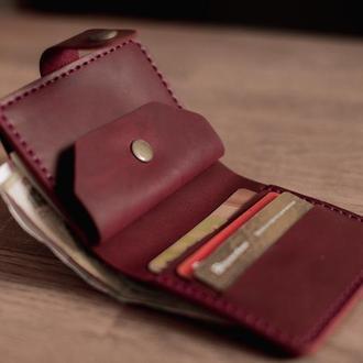 Небольшой женский кошелек из натуральной кожи_карманный кожаный кошелек