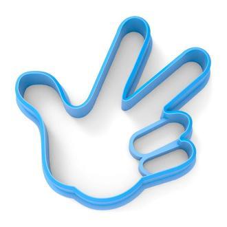 6518 Вырубка для пряников Фиксик лого (рука)