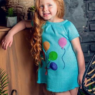 Платье для девочки голубое, весеннее, летнее