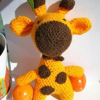 🍓 Мягкая игрушка жираф. Вязаный жирафик Жан. Амигуруми.