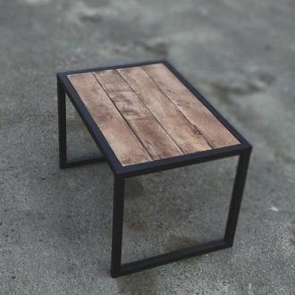 журнальний столик з дуба в стилі лофт