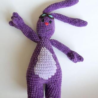 Вязаная игрушка амигуруми мультгерой зайчик Мим-Мим
