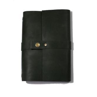 Кожаный блокнот Черный 240страниц на 2 блока планер ежедневник органайзер А5 недатированный