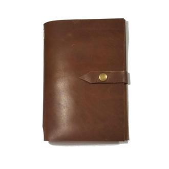 Блокнот из натуральной кожи 120страниц недатированный планер ежедневник органайзер А5 Коричневый