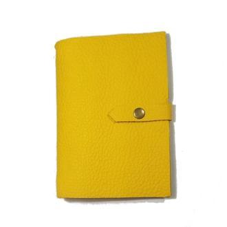 Блокнот из натуральной кожи 120страниц недатированный планер ежедневник органайзер А5 Желтый