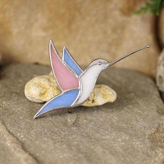 Брошь колибри Брошь птица