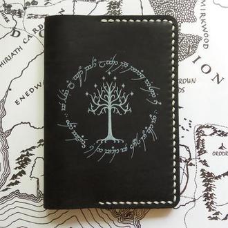 Кожаная обложка для паспорта, Властелин колец, The Lord of the Rings, LOTR