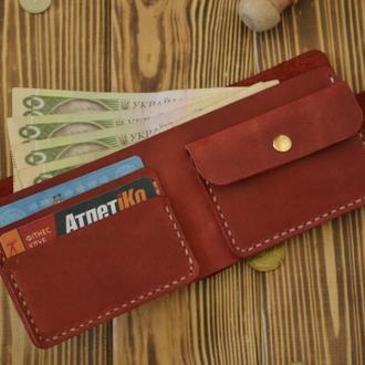 Червоний гаманець з кишенею для монет