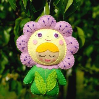 мягкая игрушка - малыш цветочек