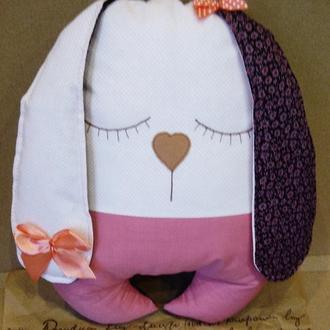 Подушка-плюшка Зайка