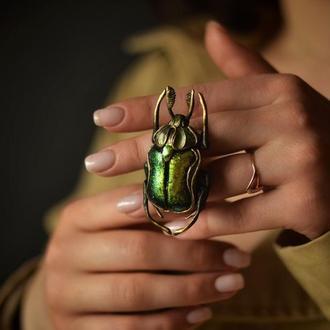 Flower Beetles(Бронзовка обыкновенная) брошь