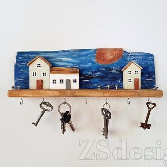 """Ключница настенная """"Night village"""" - Ключниця в коридор"""