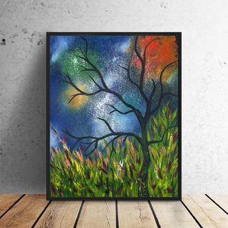 Лісова абстракція (картина масло/полотно) 50х60х2 см