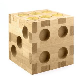 Подсвечник для для чайных свечей в стиле игральных костей, натуральное дерево, высокое качество