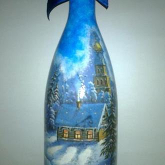 Декоративная бутылка «Зимний вечер»