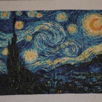 """Вышивка крестом """"Звездная ночь"""" Ван Гог"""