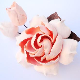 Нежная Гардения Заколка цветок