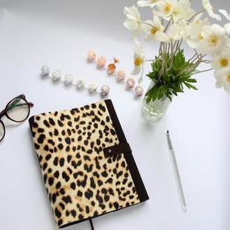 Замшевый блокнот софтбук планер Леопард Вдохновение