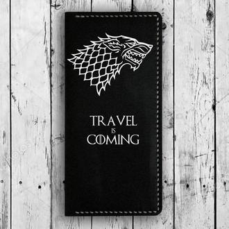 Travel Wallet, Game of Thrones, Игра престолов, Обложка на паспорт, Travel is Coming, Клатч