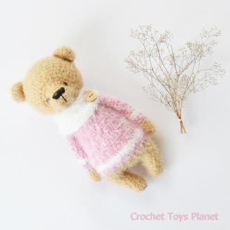 В'язаний ведмедик, В'язана іграшка ведмідь, В'язана іграшка