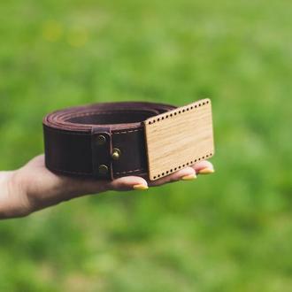 Ремень с гравировкой Игра престолов. Широкий кожаный мужской пояс 40мм