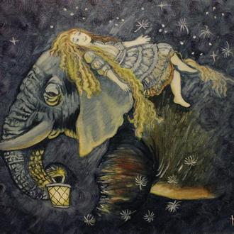 """Картина, олія на полотні, """"Чарівна ніч"""""""