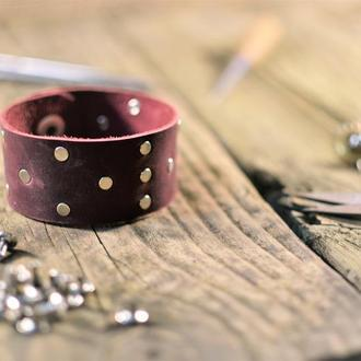 Кожаный браслет, браслет