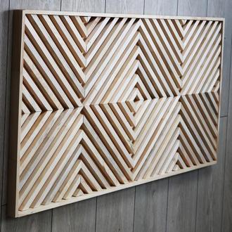 3Д панели из дерева. Декор стен