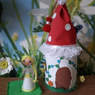 Сказочный домик, баночка- шкатулочка