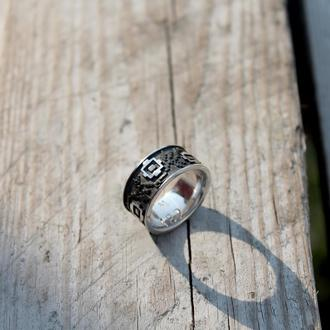 Кольцо Вышиванка-Маки