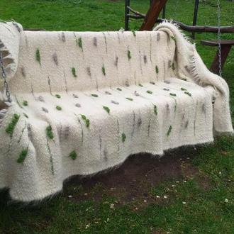 Покрывало -коврик из натуральной овечьей шерсти